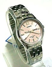 Genuine New Casio Pink Dial Watch Women's Day Date Water Resistance LTP-1335D-5A