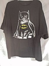 DC Comics Unisex Graphic Tee Black w/White CatBatman Large Graphic Size 2XL
