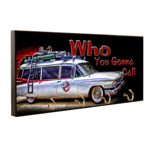 Ghostbusters Who You Gonna Call Cadillac Design Key Hanger / Pet Leash Hanger