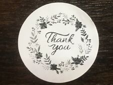 "100 THANK YOU FLOWER RING ! STICKERS ENVELOPE/PACKAGE SEALS LABELS 1"" ROUND"