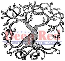 Deep Red Stamps Tree of Life Rubber Cling Stamp