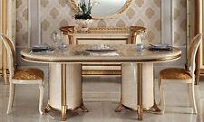 Esstisch Speisetisch Oval Säulengestell Hochglanz Stil Möbel Design Italienisch