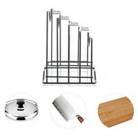 Pot Lid Holder Chopping Board Rack Multifunctional Kitchen Cookware Storage Rack
