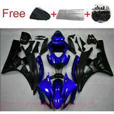 Blue BlackFor Yamaha YZf R6 R600 2006-2007 Fairing Injection Body Set Kit +Bolts