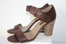 ECCO LADIES BROWN LEATHER SHOES SANDALS HEELS ODD PAIR SIZE 40 & 41