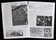 AXMOUTH TO LYME REGIS UNDERCLIFFS NATIONAL NATURE RESERVE 2pp PHOTO ARTICLE 1976