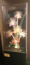 Vintage 1980s Fiber Optic Flower Lamp Music Box.