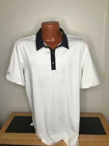 Men's Adidas Golf S/S Polo/Golf Shirt Size Large (L) ClimaCool - White