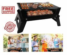 Portable Outdoor BBQ Grill Charcoal Patio Backyard Meat Cooker Smoker stainless