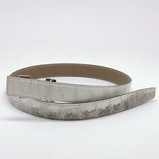 Handmade 32mm Himalayan Reversible Crocodile belt Size 90 Free Shipping
