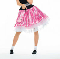 Pink & White Poodle Skirt - 1950's Rock & Roll Fancy Dress