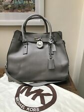 Michael Kors Grey And Silver Chain Handbag With Dust Cover