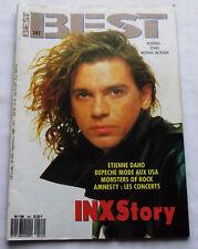 BEST No.242(Sept 1988)INXS-Poster M.JACKSON-MONSTERS OF ROCK-DEPECHE MODE-E.DAHO