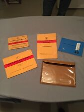 1957 Mercedes 220S Owners Manual Set. Excellent Original Condition With Case!