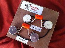 Wiring Harness Fits Gibson Les Paul Long Shaft Pot Orange Drop .022uf Tone Caps