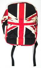 Union Jack British Flag Distressed Backpack England UK canvas back pack