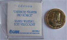 """Göde Zertifikat Medaille Gedenkprägung """"Kaiser Wilhelm I. 1888"""" Deutsches Reich"""