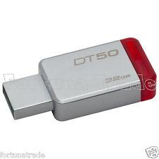 32GB Kingston DataTraveler Micro DT50/32GB Speicherstick USB 3.1 silber-rot