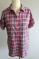 Jack Wolfskin Bluse Gr.40-L pink-schwarz gestreift