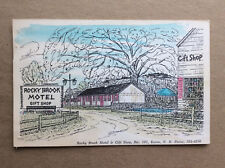 Rocky Brook Motel Gift Shop Keene Cheshire Co NH Vtg Postcard Posted 1967 Illus.