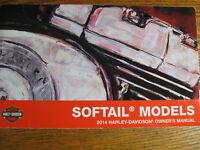 2014 Harley-Davidson Softail Owner's Owners Manual FLS FLSTC FLSTN