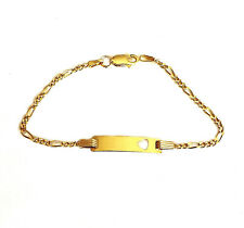 Sterling Silver Childs ID Bracelet 9ct Gold Plated - GIFTBOXED