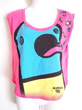 new breed Girl chill pill pink tank top vest SZ S blue monster pill poping blue