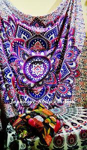 Queen Mandala Tapestry Cotton Wall Hanging Bohemian Hippie Bedspread Throw Decor