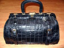 GROSSE Krokotasche, Arztkoffer, IRV, Reisetasche Krokodilleder, Croc Leather Bag