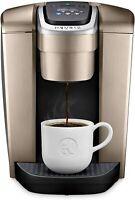 Keurig K-Elite Single Serve K-Cup Pod Coffee Maker Brewer, Brushed Gold, New