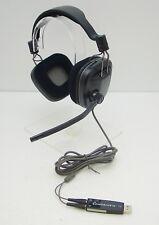 Plantronics GameCom 388 Binaural Headband Black headset 201260-05 w/ USB Adapter