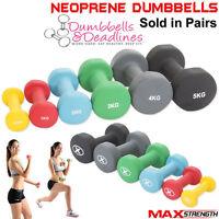 Neoprene Dumbbells Aerobic Weight Fitness Arm Exercise Training Set Hand Pair