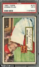 1952 Topps #107 Connie Ryan Philadelphia Phillies PSA 3 VG