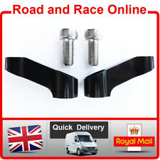 Pair Motorcycle Mirror Extenders-Riser-Extension Brackets Black 10mm Suit Honda