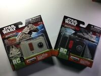 STAR WARS FORCE AWAKENS MICRO MACHINES RC MILLENNIUM FALCON & Star Destroyer LOT