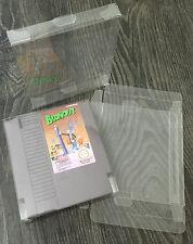 50x NES Original Caja De Cartucho De Carro De Juego Nintendo protectores de plástico PET 0.3mm