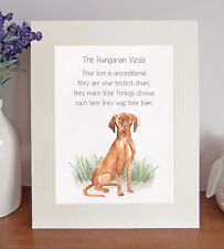 Hungarian Vizsla BESTEST CHUM Novelty Poem 8 x 10 Picture/10x8 Print Fun Gift