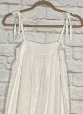 XS/Small/Medium/Large/XL New White Eyelet Cotton Lace Long Nightgown Maxi Dress