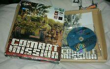 Jeu pc cd rom big box COMBAT MISSION vintage / version française / complet