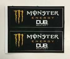 Monster Energy Drink DUB EDITION Stickers (2) Unused NOS