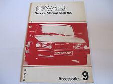 Saab 900 1979-83 Accessories Service Manual