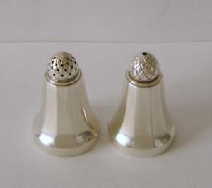 Georg Jensen Sterling Silver Acorn Salt & Pepper Pots No 423B Height 4.4 cms #1