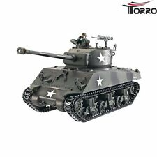 RC Panzer US Sherman M4A3 76mm Pro-Edition Metallausführung TORRO mit Holzkiste