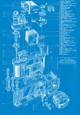 "060 Blueprint -Nikon SLR camera schematics show 24""x34"" Poster"