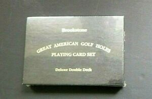Vintage Brookstone GREAT AMERICAN GOLF HOLES Playing Cards Double Deck SEALED