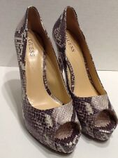 Guess New Synthetic Python-embossed Faux Leather High Heels Sexy Women's Sz 11 M