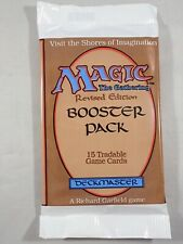 FACTORY SEALED MAGIC THE GATHERING MTG REVISED EDITION BOOSTER PACK - US VERSION