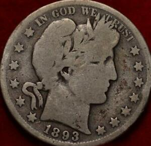 1893-S San Francisco Mint Silver Barber Half Dollar