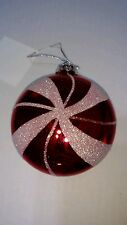 1 New Christmas Holiday Ornament Red White Candy Cane Peppermint Sweet Treat