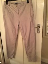 Laura Ashley Size 16 Taupe Chino Trousers
